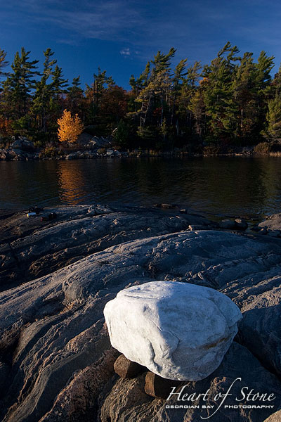 Glacial erratic boulder, Sans Souci, Georgian Bay. Photo by Sean Tamblyn.